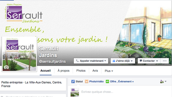 SERRAULT JARDINS / e-communication