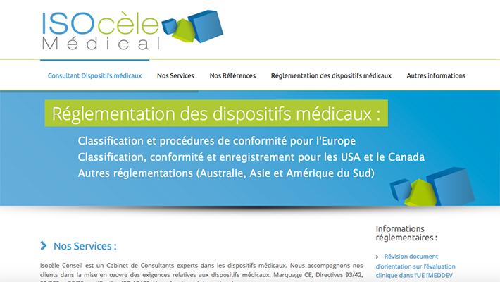 SITE INTERNET / Isocèle Médical